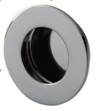 Flush Pull Circular Handle in Satin Stainless Steel